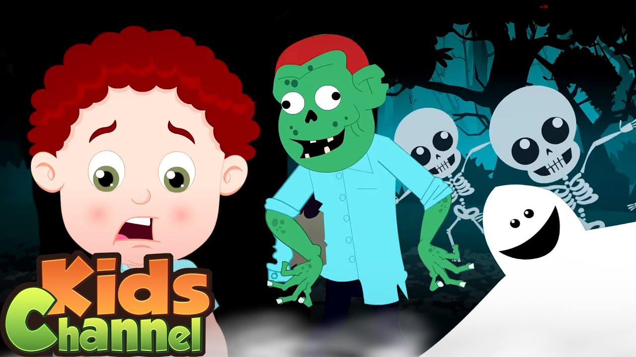 Small Halloween Song | Schoolies Cartoon Videos | Halloween Rhymes from Kids Channel