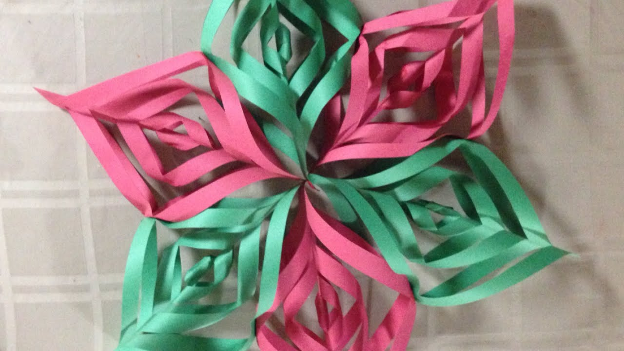 create a pretty construction paper christmas star diy home guidecentral youtube
