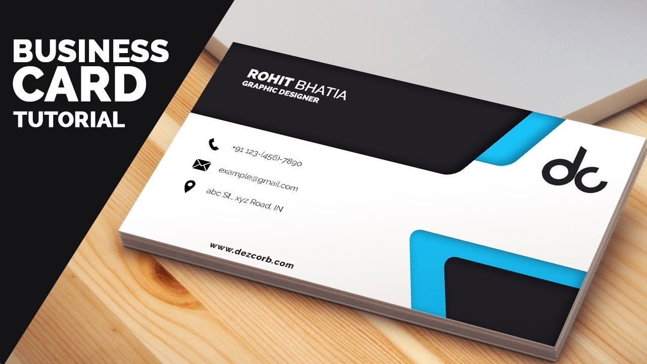 Business Card Design In Photoshop Cs6 Tutorial Learn Photoshop