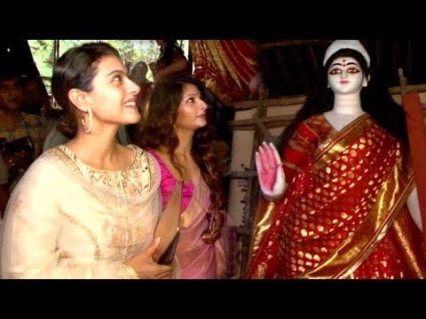 Kajol With Family At Durga Puja 2017 Full Video HD