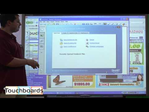 Smartboard SMART Board SB680 77in. Quick demo and review