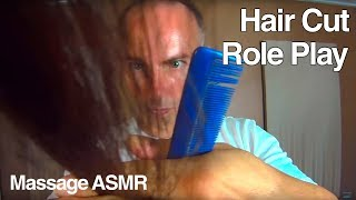 ASMR Hair Cut Role Play - Brushing, Head Massage & Little Water Spray