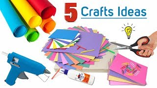 5 Awesome Craft Idea With Colour paper | Idea with Paper | Paper art and craft