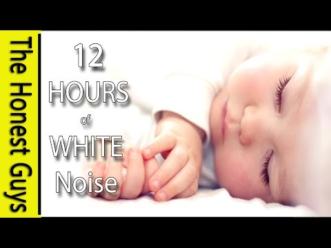 12 HOURS of WHITE NOISE Gets Baby to Sleep Fast! Calms Crying Babies, Colic etc
