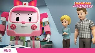 🚨 Daily life Safety with AMBER | EP 13 - 16 | Robocar POLI | Kids animation