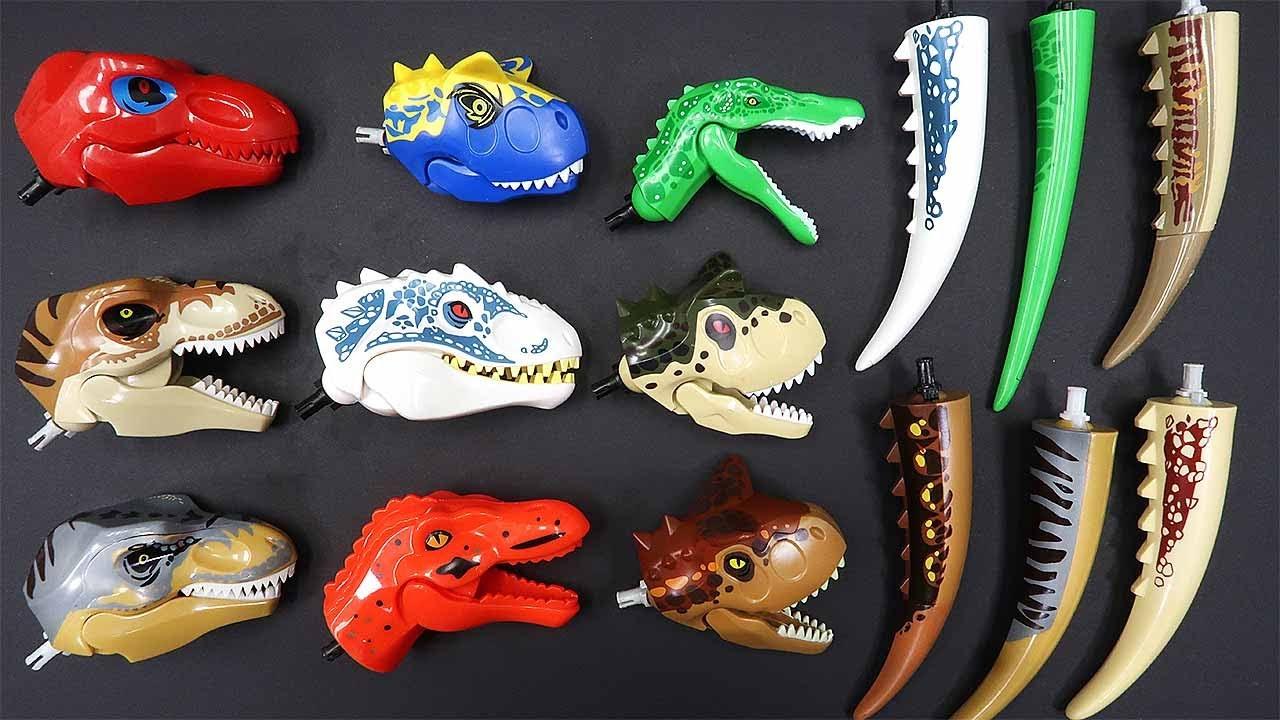 12 Dinosaur Head Lego - Hybrid Dinos Transformer Head Tail 혼종 공룡 변신