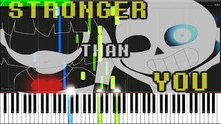 Stronger Than You - Undeŗtale Animation Parody[Syntheisa Piano Cover]
