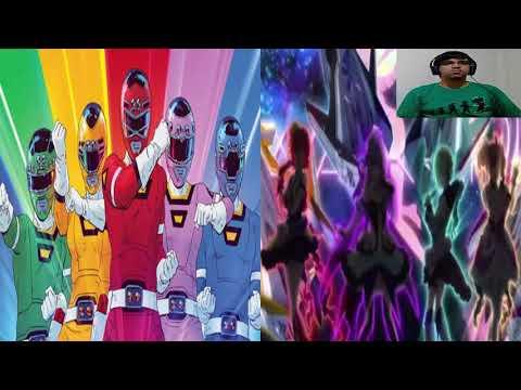 Assistindo o anime Macross Delta - referencia a Power Rangers e High School Musical kkkkk