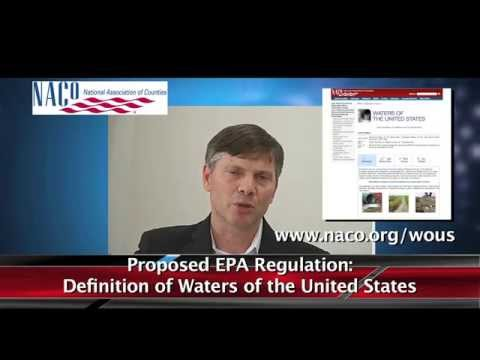 """Proposed EPA regulation of """"Waters of the U.S."""" & its impact to counties"""