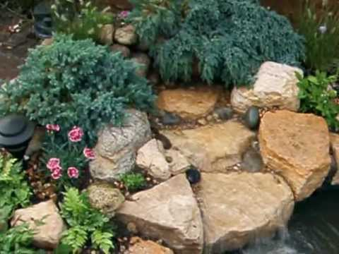 Waterfall and rockery installed on existing pond and patio ...