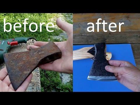 Как защитить топор от ржавчины видео