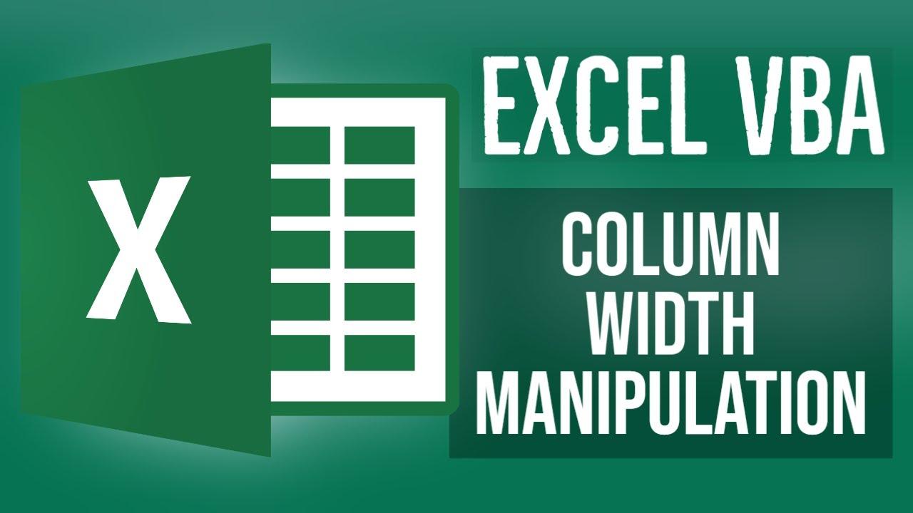 Excel VBA Tutorial for Beginners 20 - Column Width Manipulation in Excel VBA