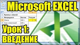 MS EXCEL. Урок 1. Введение. Описание программы и оформление таблицы