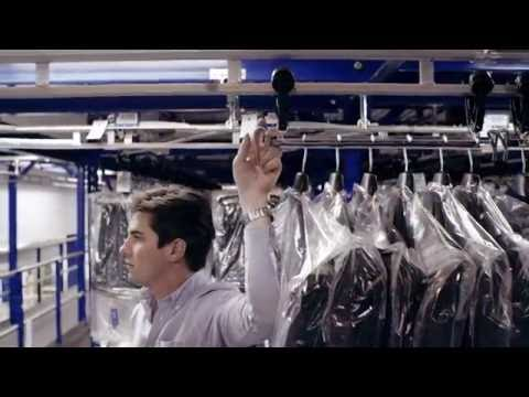 Planiform's V-Rail system - monorail system for garments on hangers