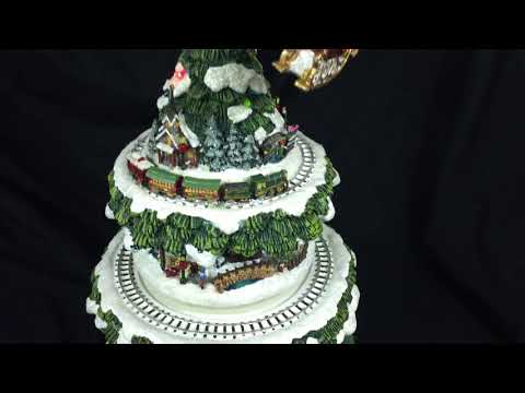 Thomas Kinkade Wonderland Express Train Christmas Animated Tabletop Tree