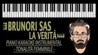 BRUNORI SAS - La Verità KARAOKE (Piano Instrumental - tonalità femminile)