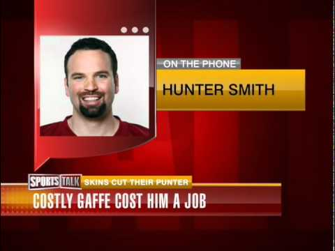 Redskin Hunter Smith Reacts to Being Cut