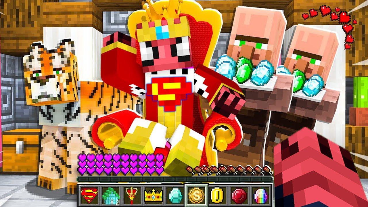 FAKİR 1 GÜNLÜĞÜNE SÜPER KRAL OLDU 👑 - Minecraft