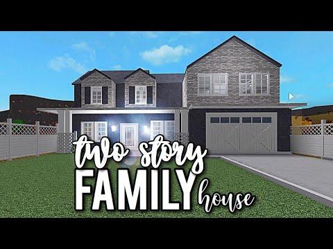 Roblox Blockburg 2 Story Family House Bloxburg 2 Story Family House Youtube