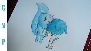 Drawing Gumball and Petunia   Dibujando a Gumball y Petunia