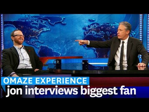 Jon Stewart Interviews Contest Winner on The Daily Show // Omaze Experience
