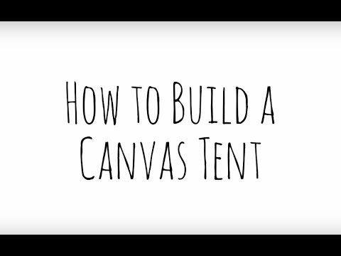 new style 834af 874ff RVGG: How to Build a Canvas Tent (Step-by-Step)