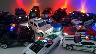 Toy Police Cars stuck in the mud and go to the car wash video