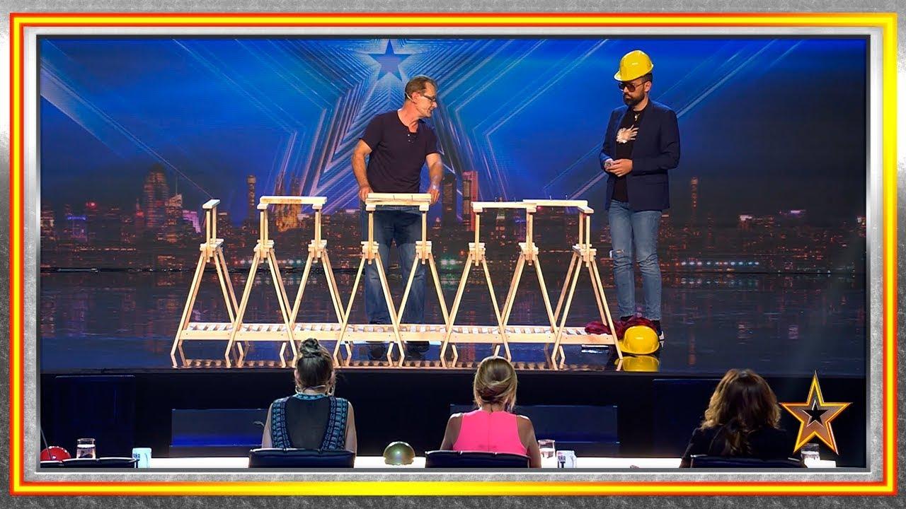 ¡Clava clavos en madera con sus manos y sin martillo!   Audiciones 4   Got Talent España 2019