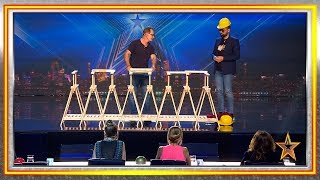 ¡Clava clavos en madera con sus manos y sin martillo! | Audiciones 4 | Got Talent España 2019