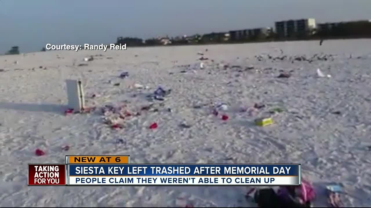 Siesta Key Beach Trashed Over Memorial Day