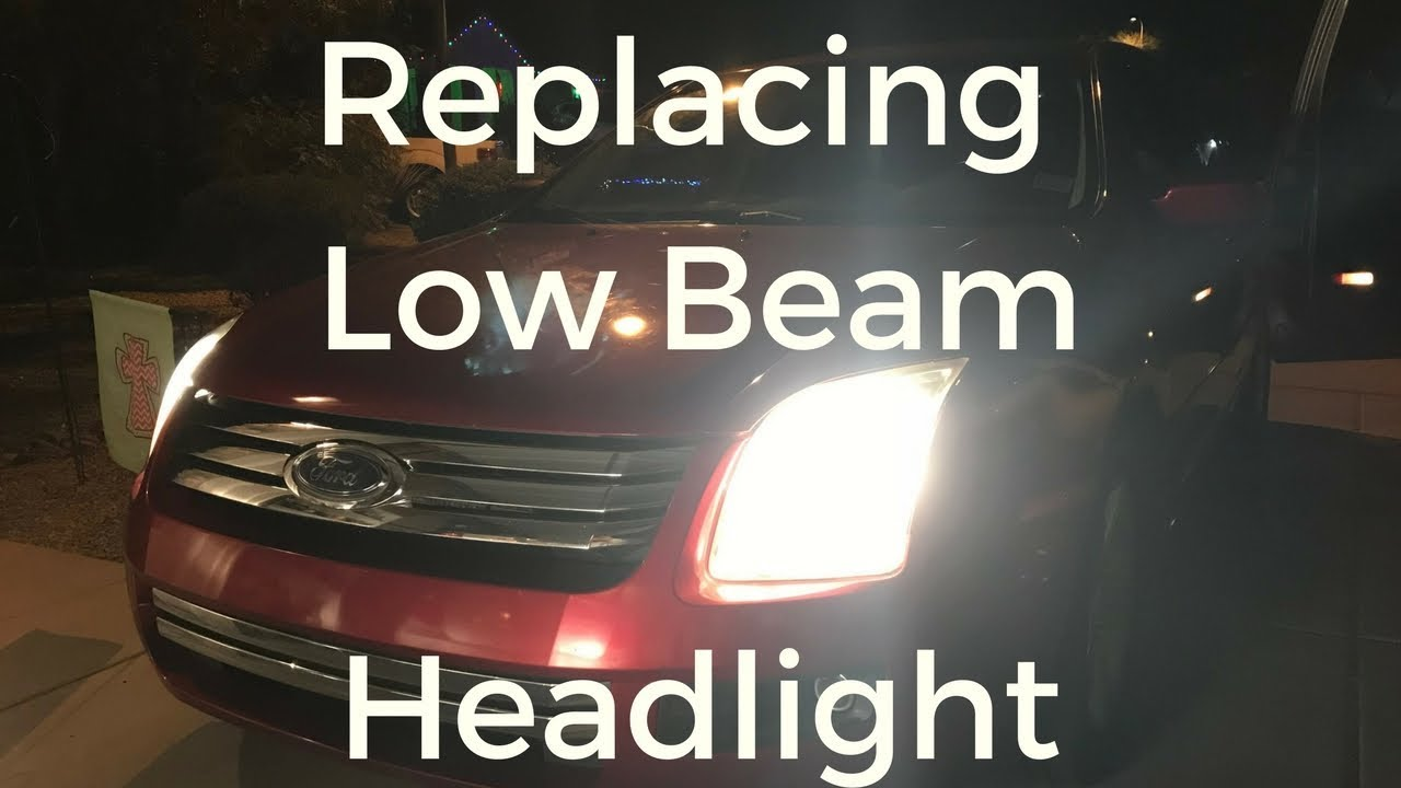 Replacing Low Beam Headlight 2006 Ford Fusion