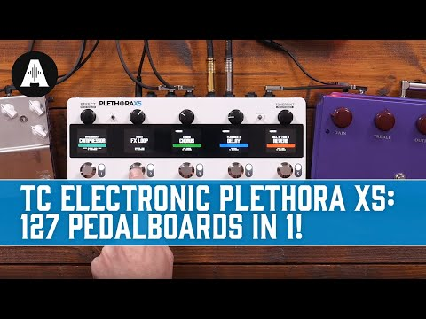 NEW TC Electronic Plethora X5 TonePrint Pedalboard - Every Effects Pedal You Could Ever Want!