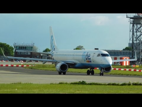 FLYBE Embraer E195 Inaugural Flights at London Southend Airport 01/05/2017