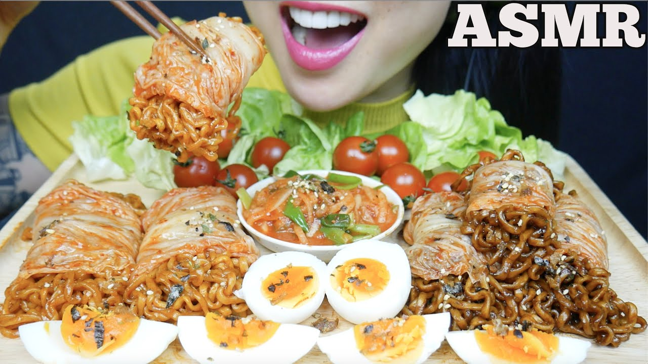 Asmr Kimchi Wrap Spicy Blackbean Noodles Fire Noodles Big Bites Eating Sounds Sas Asmr Youtube Asmr cheesy spicy giant korean rice cakes. asmr kimchi wrap spicy blackbean noodles fire noodles big bites eating sounds sas asmr