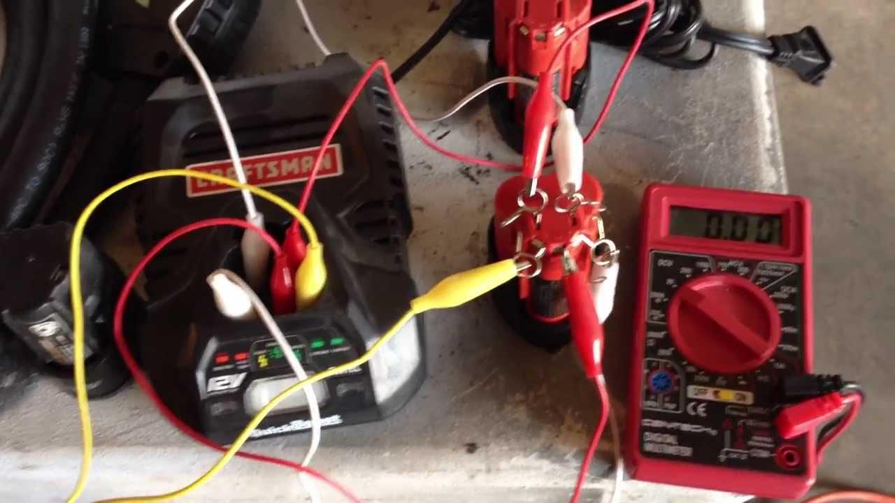 Car Battery Wiring Diagram A 3 Way Dimmer Switch Charge 12v Lithium Craftsman Milwaukee Ryobi Dewalt Youtube Premium