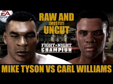 Mike Tyson vs Carl Williams ★ Tyson Raw And [Mostly] Uncut ★ Full Fight Night Champion Simulation