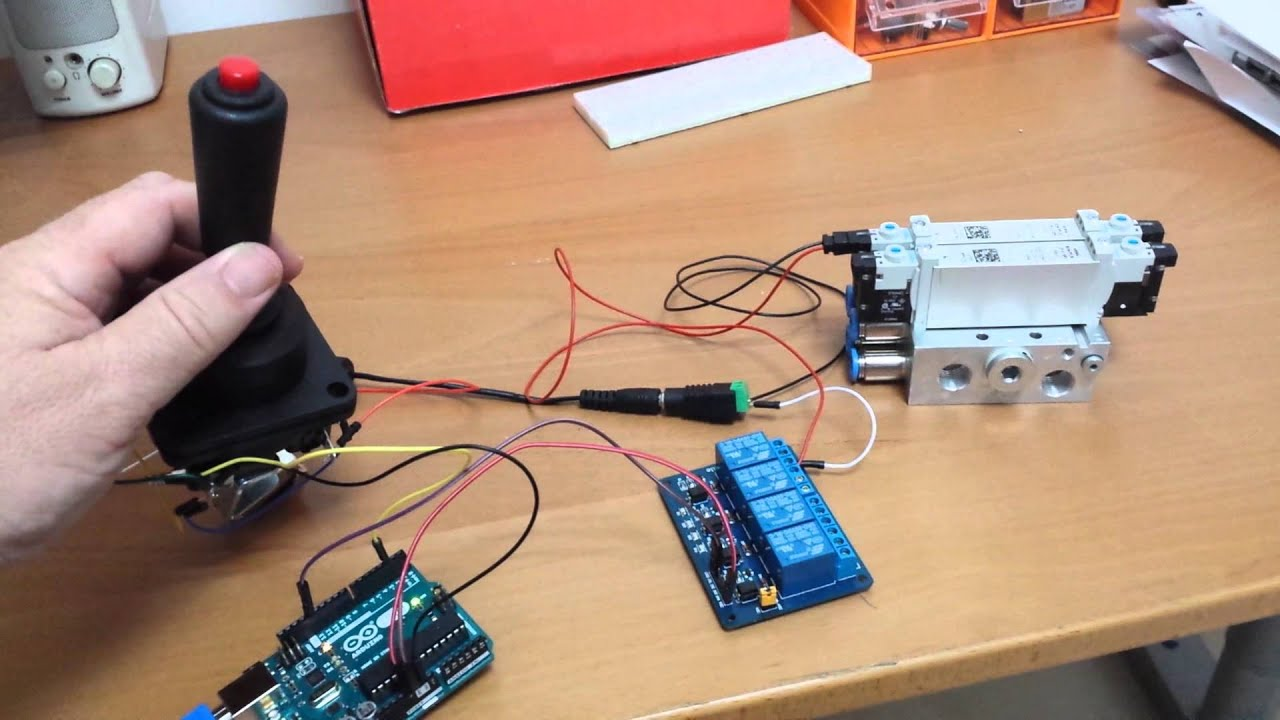 Arduino Circuit To Control 1 Cylinder 2 Solenoid Valves Using 2