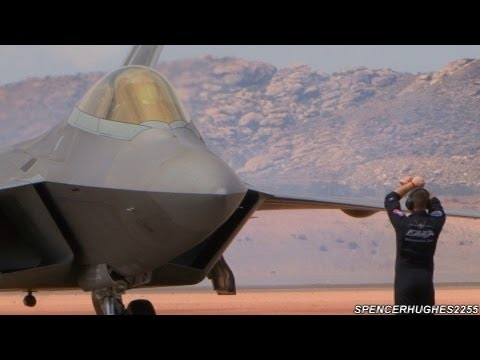 Must See: F-22 Raptor pre-flight, Engine Start-up, and Taxi Out