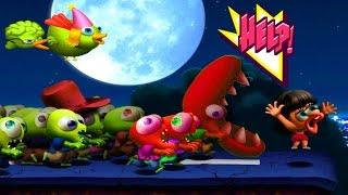 Zombie Tsunami 3 Игровой мультик для детей про зомби, машины, вертолеты, бомбы и другие препятствия
