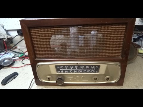 Repair of A 1950 Sparton 141XX AM FM Tube Radio