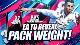 EA TO REVEAL PACK WEIGHT!