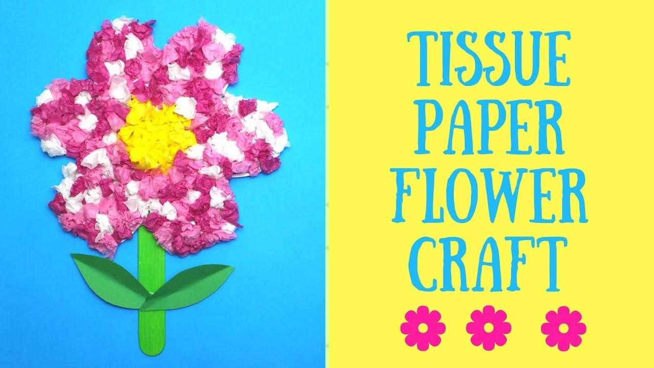 Tissue Paper Flower Craft Idea