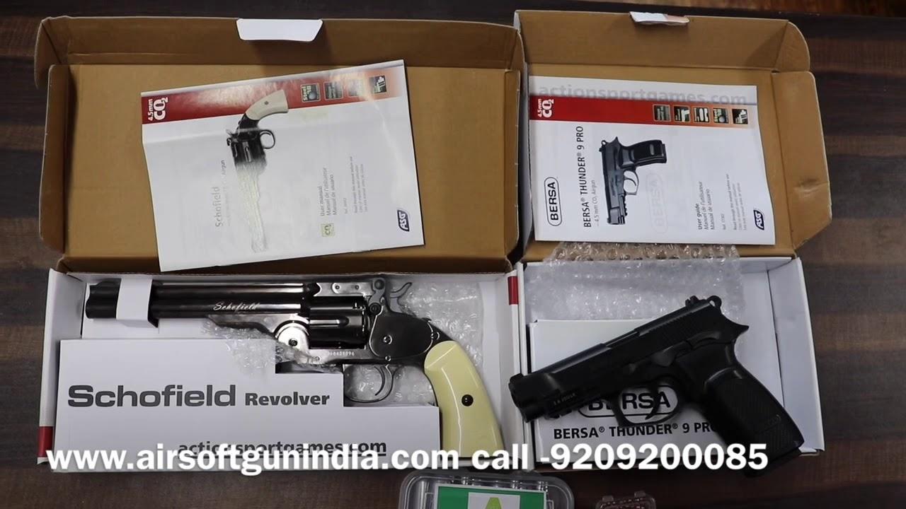 Advantage between pistol and revolver | Airsoft gun india