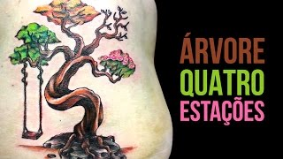 ÁRVORE das Quatro Estações | Tree of Seasons - Tattoo Time Lapse #22