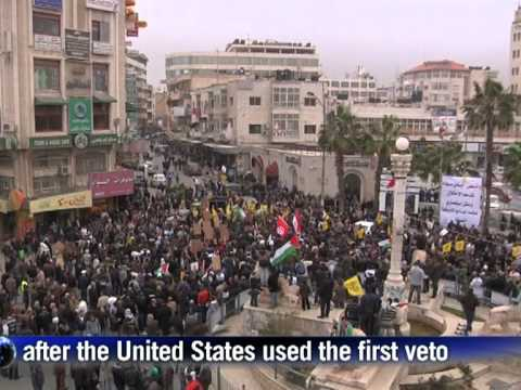 palestinians protest 39 despicable 39 obama un veto youtube. Black Bedroom Furniture Sets. Home Design Ideas