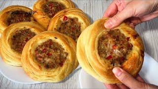 Фантастическая турецкая выпечка! Мясные гнезда! Хрустящие и воздушные внутри! Невероятно вкусно!