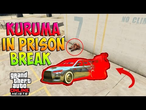 GTA5 Kuruma In Prison Break Heist Glitch! Bulletproof Armored Kuruma Inside Prison During Heist