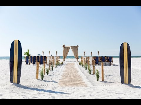 Clearwater Beach Luau Wedding Package:  Gulf Beach Weddings