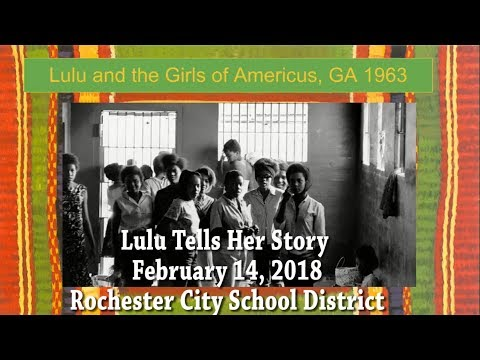 Lulu Tells Her Story to Students in the Rochester City School District - February 14, 2018