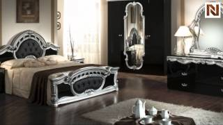 Rococo - Italian Classic Black-silver Bedroom Set Vgacrococo-blk From Vig Furniture